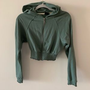 Urban Outfitters Crop Zip Up